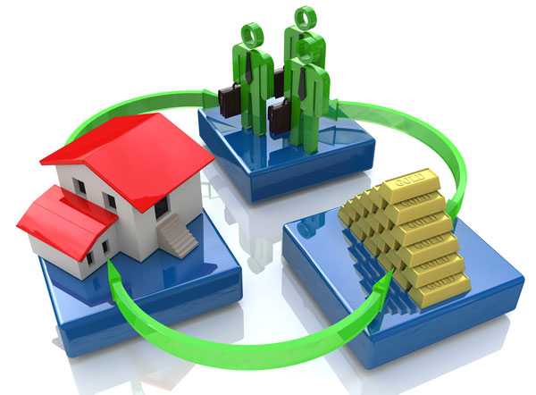 3 dimensional model of home investors